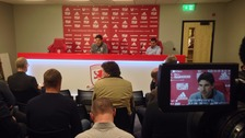 Aitor Karanka's news conference.