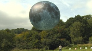 A test inflation of the moon ballon