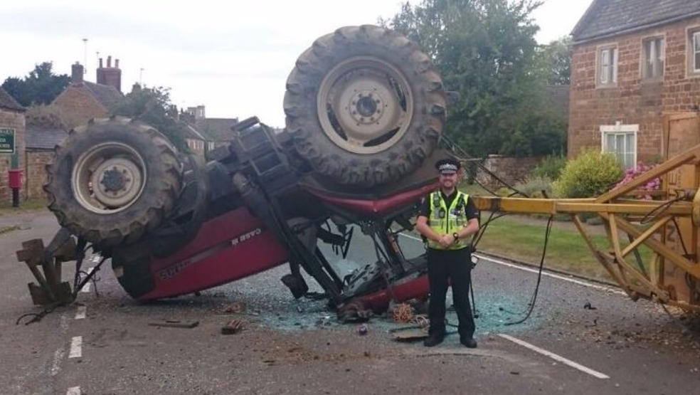 Driver Walks Away From Accident That Flipped Ten Tonne