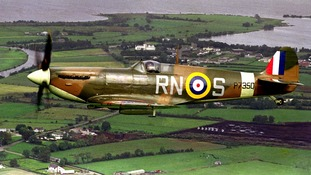 The Battle of Britain Memorial Flight Spitfire MkIIa 'Enniskillen', in the colours of 72 Squadron