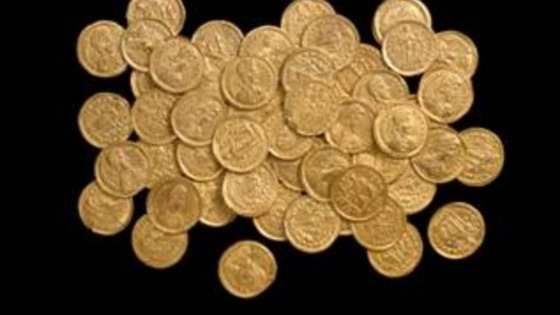 The coins were found near St Albans Photo.