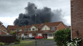 Massive tyre fire in County Durham