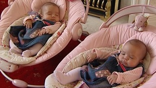 The identical twins are only 12 weeks old