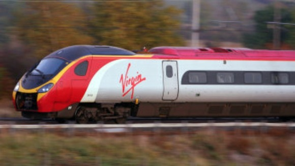 Virgin Trains on the West Coast Main Line 