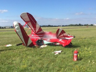 The plane came down at Gloucestershire Airport