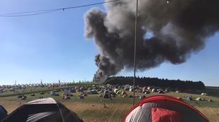 Campsite evacuated as blaze destroys cars at BoomTown Festival