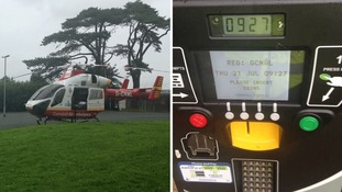 Air ambulance pilot buys pay and display ticket after landing in car park during emergency