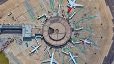 Gatwick has released new aerial images to celebrate it's busiest ever month