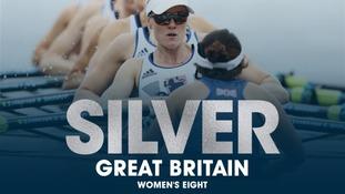 Team GB's Women's Eight win silver.