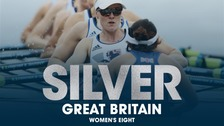 Team GB's Women's Eight win silver.