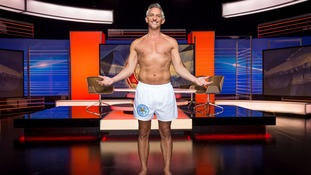 Gary Lineker strips off for Match Of The Day.