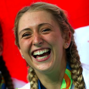 Laura Trott looked delighted.