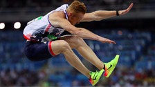 Greg Rutherford in last night's long jump final.