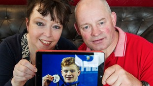 Adam's parents, Mark and Caroline Peaty.