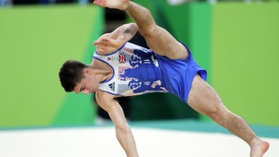 Gold medal-winner Max Whitlock in action during the floor exercise