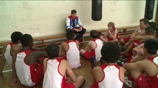 Luke Campbell inspiring young children