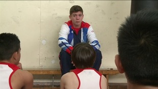 Luke Campbell talking to the young boxers