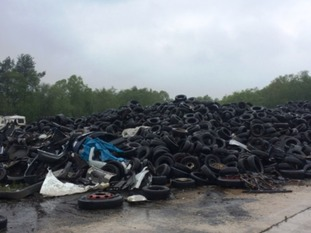 Restoration work will involve clearing up 100,000 tyres and tonnes of wing mirrors
