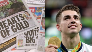 Papers hail 'quiet 23-year-old from Hertfordshire' who became a double Olympic champion