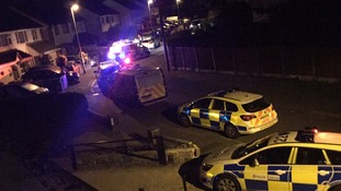 Picture from the scene of last night's disturbance in Meadow Close, Trench in Telford
