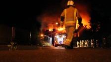 The fire at Little Plumstead near Norwich.