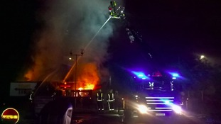 The fire at the Bletchley Burger King on Sunday night.