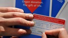 An organ donor card