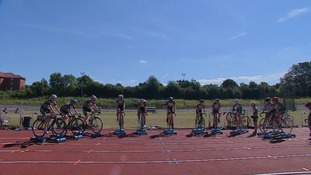 Young Welwyn Wheelers are put through their paces during training.