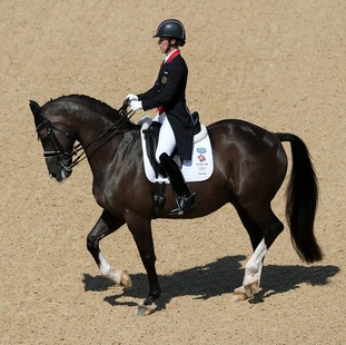 Great Britain's Charlotte Dujardin on Valegro in action during the Dressage Individual Grand Prix Freestyle