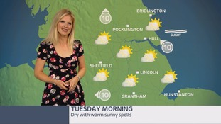 Morning weather update with Jo Blythe