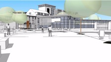 Artist's impression of the new Lincoln transport hub