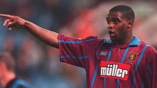 Dalian Atkinson playing for Aston Villa in 1994.