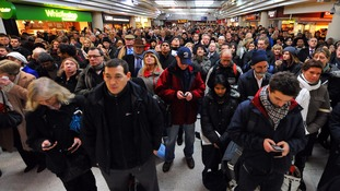 Rail passengers waiting after delays earlier this year.