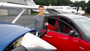 High flying teen becomes one of Britain's youngest airplane pilots
