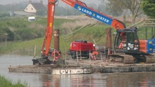 The second phase of dredging on the River Parrett has been completed. In the last three months 13,000 cubic metres have been removed.