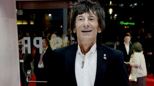 Ronnie Wood was also in attendance