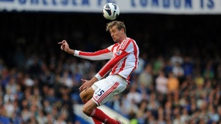 Peter Crouch has scored four of Stoke's six goals this season