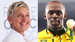 Ellen DeGeneres hits back over 'racist' Usain Bolt photo