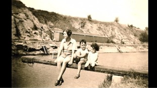 Janet Cocks with her mother and brother back in the 1930s.