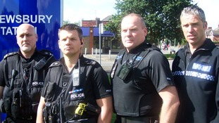 Midlands officers PC Dave Williams and Sergeants Andy Jackson, Darren Heyes and Stuart Wells