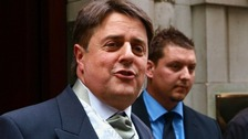 BNP leader Nick Griffin made comments on Twitter about a gay couple at the centre of a landmark legal ruling