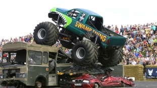 This annual event features head-to- head monster truck racing and monster truck freestyle