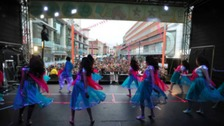 Dancers at Leicester's Highcross shopping centre