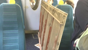 Southern trains roof panel falls on commuters during rush hour into Victoria