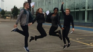 Students celebrate at Sheffield College