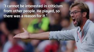 Jurgen Klopp brushes off criticism of Liverpool defender Alberto Moreno
