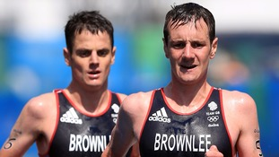 Alistair Brownlee narrowly led his brother Jonny in the early part of the running section before opening up a bigger gap.