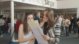 Fall in Welsh students achieving top A level grades