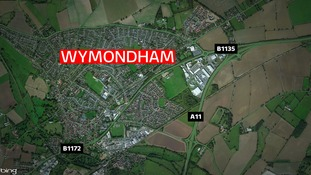 The crash happened near Wymondham.