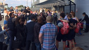 Ed Clancy mobbed after returning from Rio with third gold